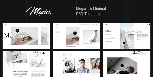 Mizio — Minimal & Clean Portfolio PSD Template - Portfolio Creative