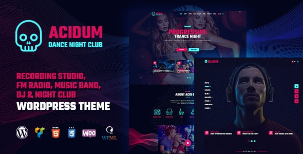 Acidum - Night Club and DJ WordPress Theme - Nightlife Entertainment