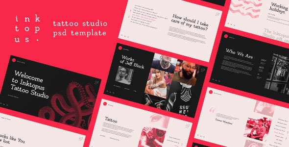 Inktopus — Tattoo Studio PSD Template - Portfolio Creative
