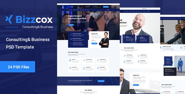 Bizzcox - Business Consulting Template - Corporate Photoshop