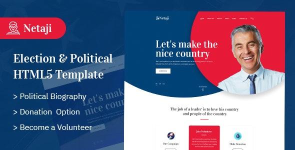 Netaji - Political & Election HTML5 Template - Political Nonprofit