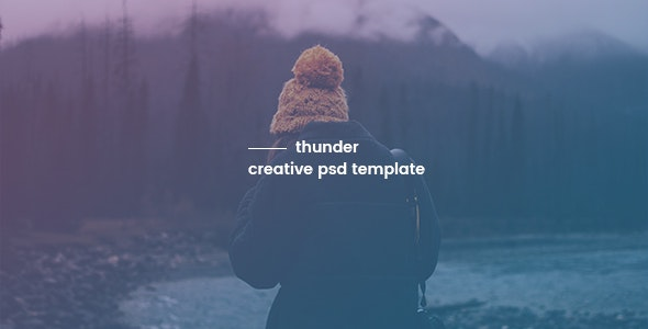 Thunder - Creative PSD Template - Creative Photoshop