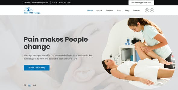 Dialia - Registered Massage Therapy PSD Template