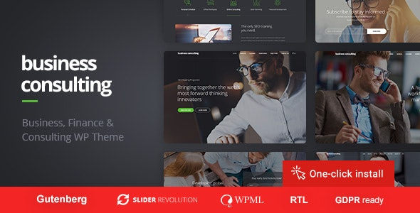 Business Consulting - WordPress Theme for Personal Coaching, Motivation and Training - Business Corporate