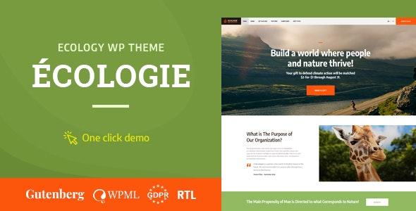 Ecologie - Environmental & Ecology WordPress Theme - Environmental Nonprofit