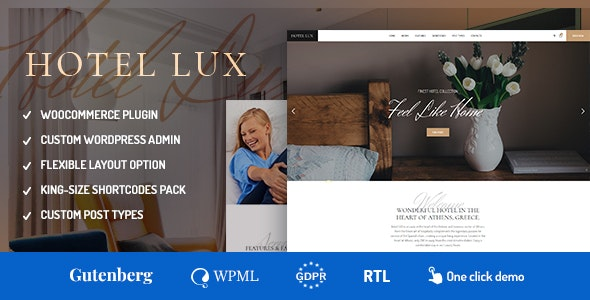 Hotel Lux - Resort & SPA WordPress Theme - Travel Retail