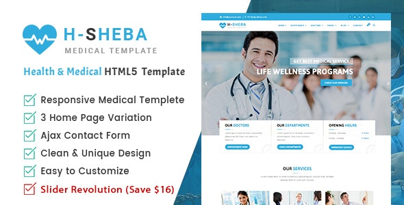 H-Sheba | Health and Medical HTML Template - Health & Beauty Retail