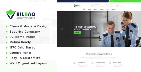 Bilbao - Security Services HTML Template - Business Corporate