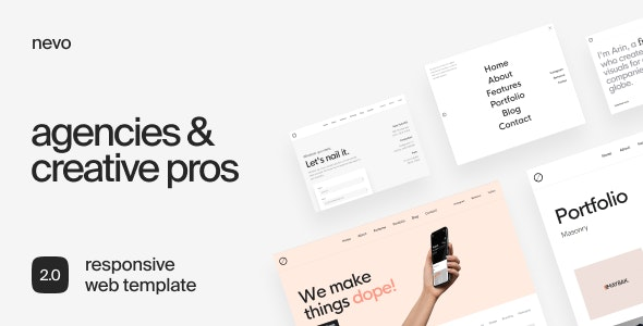 Nevo – Creative & Agency Portfolio Template - Portfolio Creative
