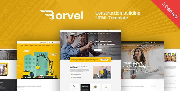 Borvel - Construction Building Company HTML Template