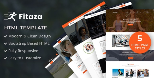 Fitaza – Fitness HTML Template - Site Templates