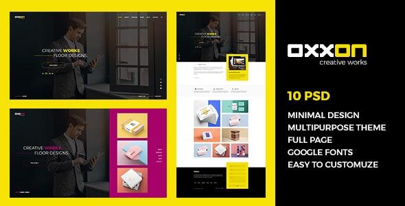 Oxxon - Minimal Agency & Mutipurpose PSD Template - Creative PSD Templates