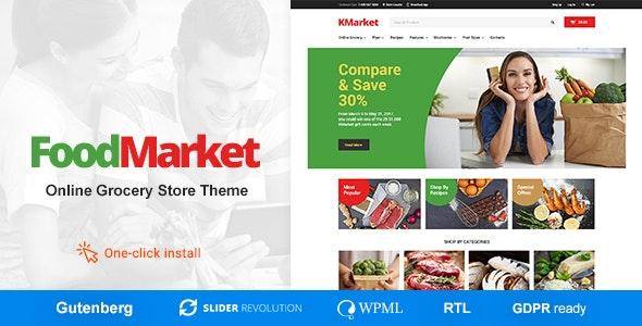 Food Market - Grocery Store and Shop WordPress Theme - Food Retail