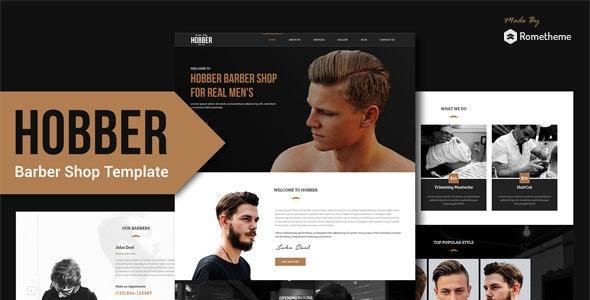 Hobber - Barbershop, Hair & Salon PSD Template - Retail Photoshop
