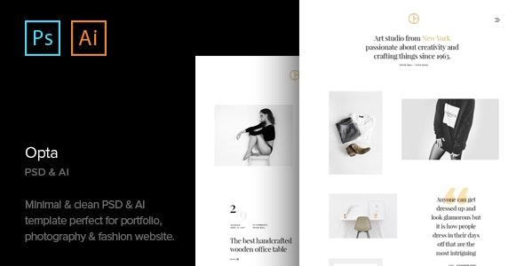 Opta - Minimal Portfolio and Photography PSD Template - Photography Creative