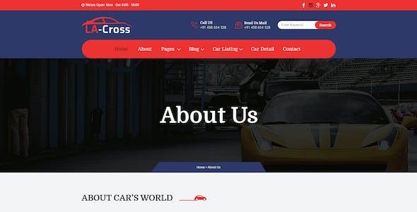 LA Cross Car Dealer PSD Template