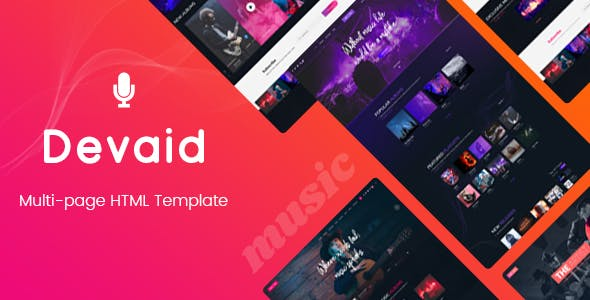 Devaid - Music Band and Musician Template by pixelthemez