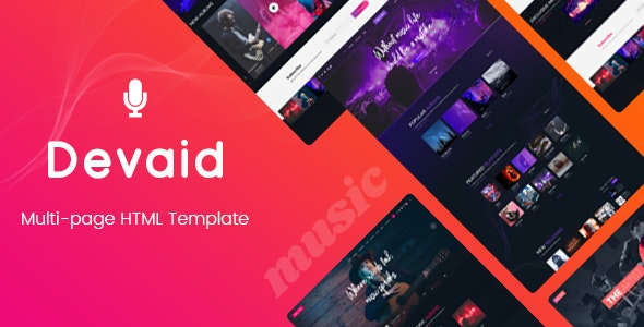 Devaid - Music Band and Musician Template - Music and Bands Entertainment