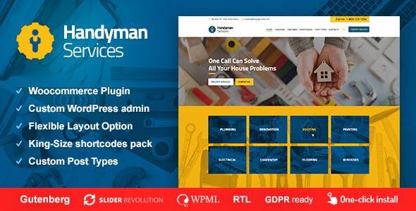 Handyman Services - Construction & Renovation WordPress Theme