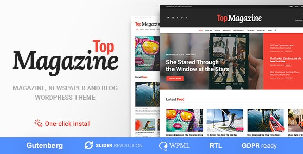Top Magazine - Blog and News WordPress Theme - News / Editorial Blog / Magazine