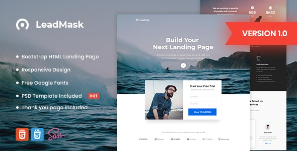 LeadMask - Business HTML Landing Page Template - Marketing Corporate