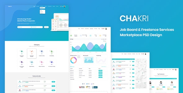 Chakri - Job Board & Freelance Services Marketplace PSD