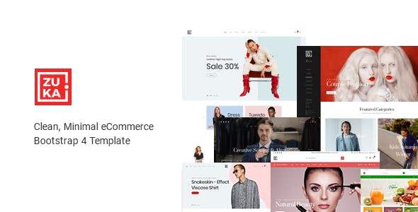 Multipurpose eCommerce HTML Template - Zuka - Shopping Retail