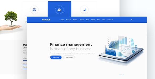 Finance Responsive HTML Template - Corporate Site Templates
