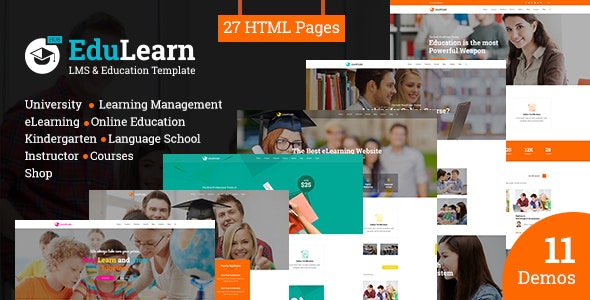 EduLearn Hub - Multi-Purpose LMS & Education Template - Corporate Site Templates