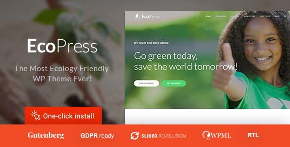 Eco Press - Nature, Ecology & NGO WordPress Theme