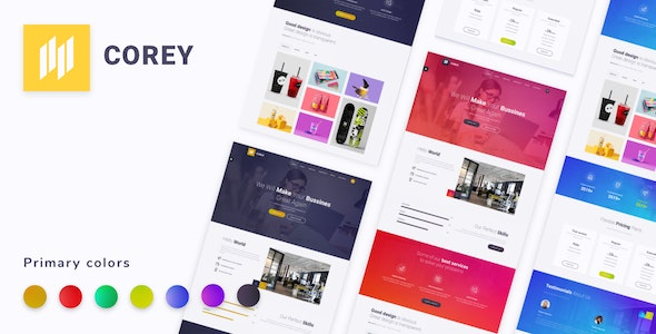 Corey - One Page Parallax - Corporate Site Templates