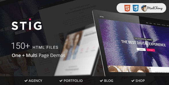 Stig - Multipurpose One/Multi Page Template - Portfolio Creative