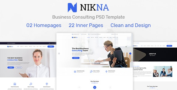NIKNA – Business Consulting Template - Business Corporate