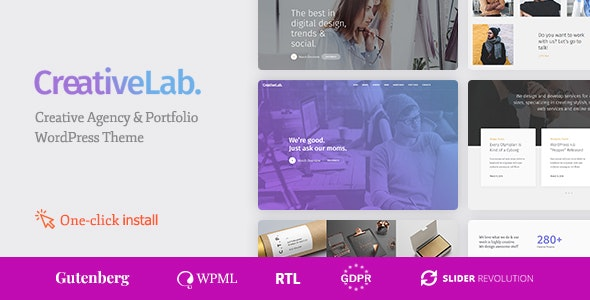 Creative Lab - Creative Studio Portfolio & Agency WordPress Theme by