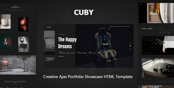 Cuby - Portfolio Showcase HTML Template by design_grid