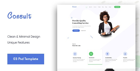Consult-Business Consulting PSD Template - Business Corporate
