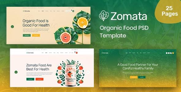 Zomata - Organic PSD Template - Retail PSD Templates