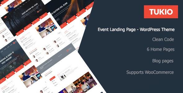 Tukio | Event Landing Page WordPress Theme - Events Entertainment