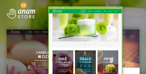 Anam - Health & Spa and Cosmetic shop WooCommerce WordPress Theme