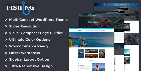 Fishing Yacht Water Sports WordPress Theme - Business Corporate