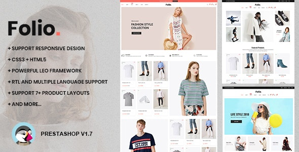 At Folio - Responsive Prestashop 1.7.7.x Theme for Clothing & Accessories - Fashion PrestaShop