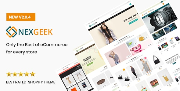 NexGeek - Multipurpose Responsive Shopify Theme(Sections Ready) - Shopify eCommerce