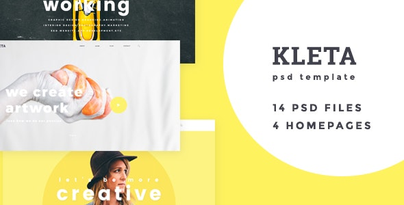 Kleta - Creative Agency and Portfolio PSD Template - Portfolio Creative
