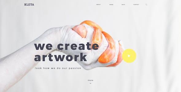 Kleta - Creative Agency and Portfolio PSD Template