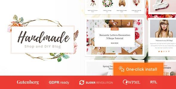 Handmade Shop - Handicraft Blog & Creative Store WordPress Theme