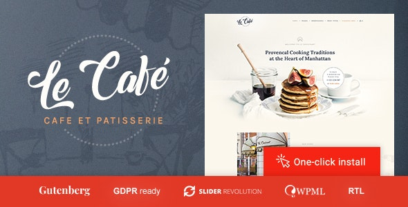 Le Cafe - Bakery & Bistro WordPress Theme - Restaurants & Cafes Entertainment