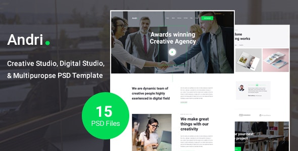 Andri - Multi-Purpose Business PSD Template - Business Corporate