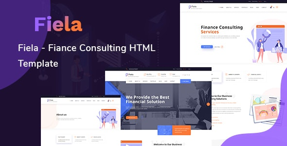 Fiela – Finance Consulting HTML Template - Corporate Site Templates