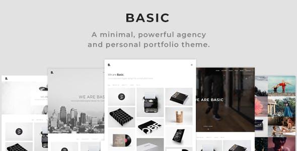 Basic - Minimal Portfolio WordPress Theme