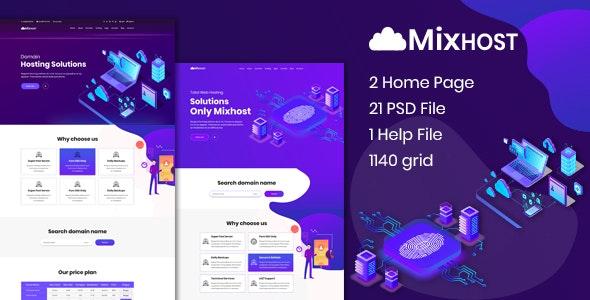 MixHost - Web Hosting PSD Template - Hosting Technology